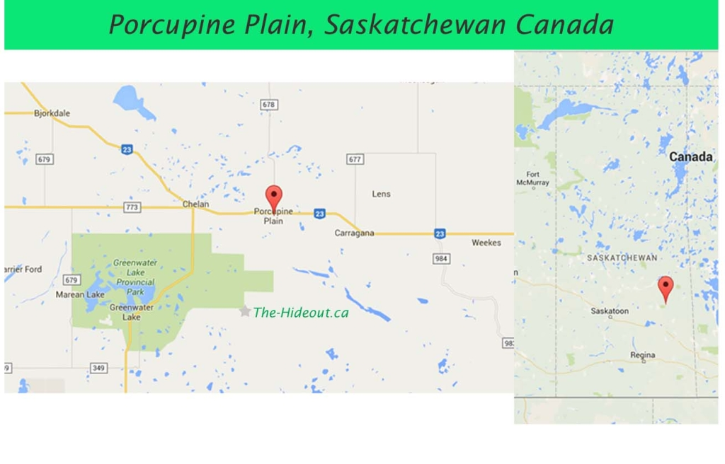 Porcupine Plain Sask Map